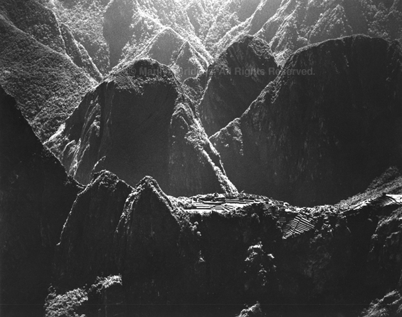 Machu Picchu Among the Peaks of the Andes, 1989. Peru. copyright photographer Marilyn Bridges