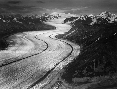 Kahiltna Glacier, Alaska, 1990. USA West. copyright photographer Marilyn Bridges