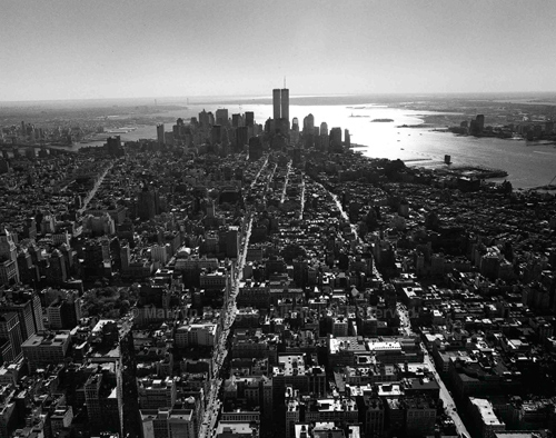NYC Lower Manhattan and the World Trade Center NYC 2000. USA New York City. copyright photographer Marilyn Bridges.