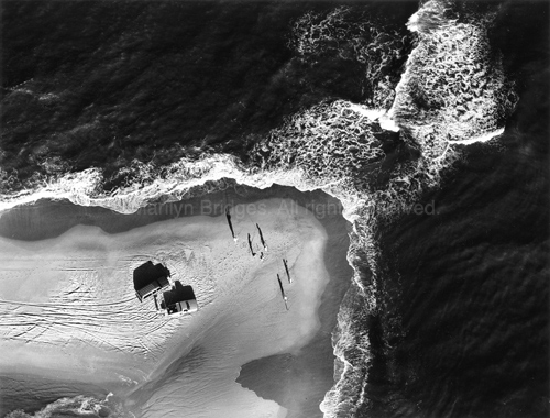 Men Fishing on the Outer Banks, North Carolina, 1993. USA South. copyright photographer Marilyn Bridges.