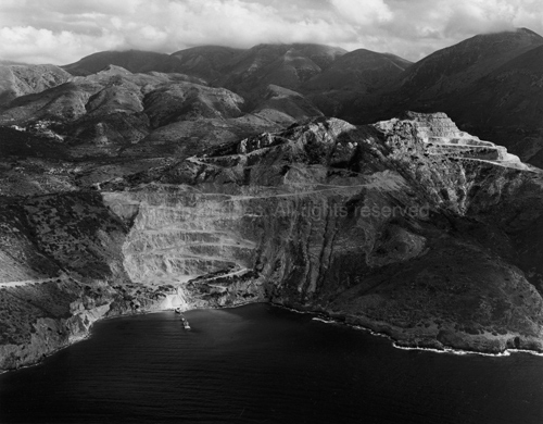 Gypsum Quarry near Psiera, Crete, 2008. Europe South. copyright photographer Marilyn Bridges