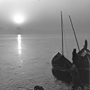 Sunrise on the Gandak River, 1993. India. copyright photographer Marilyn Bridges