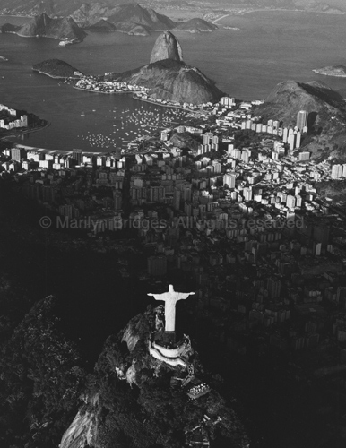 Cristo Redentor and Sugarloaf, Rio de Janeiro, Brazil, 1993. Latin America. copyright photographer Marilyn Bridges