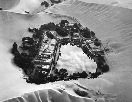 Huacachina Oasis near Ica, Peru, 1989. Latin America. copyright photographer Marilyn Bridges